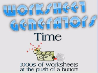 KS2: Time - Worksheet Generators