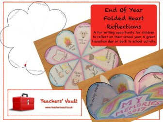 End Of Year Folded Heart Reflections