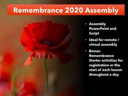 Remembrance Day Assembly 2020