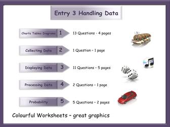 Handling Data Workbook - Worksheet Booklet - Functional Skills E3