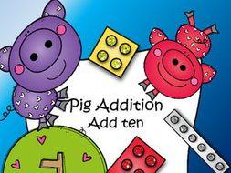 Pig Addition - Add ten