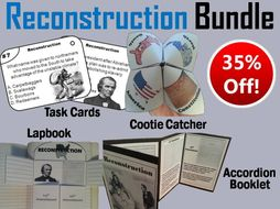 Reconstruction Task Cards and Activities Bundle