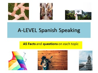 A-Level Spanish AS - Speaking- Key facts and questions on each topic