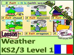 primary french lesson ks2 3 saying what the weather is like by learnasyouteachfrench. Black Bedroom Furniture Sets. Home Design Ideas