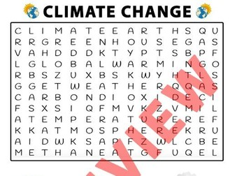 Climate Change Word Search Activity