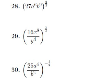 Indices worksheet no 3 (with solutions)