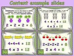 multiplication as repeated addition powerpoint lesson and
