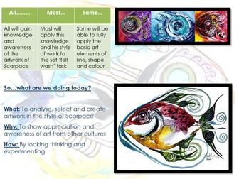 Year 6 Taster Day Art Activity - Topic: Fish (Jason Scarpace)