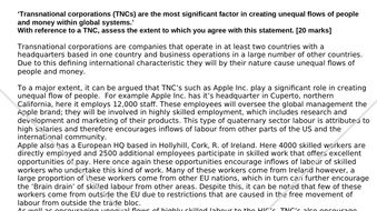 Transnational corporations (TNCs) are the most significant factor in creating unequal flows