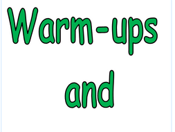 P.E Warm ups & Cool downs
