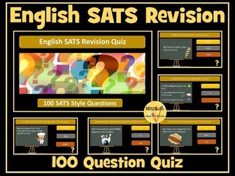 SATS English: Spelling, Punctuation and Grammar Revision Quiz