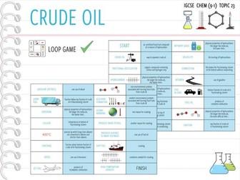 IGCSE Chemistry Topic 23: Crude Oil - Loop Game (KS4)