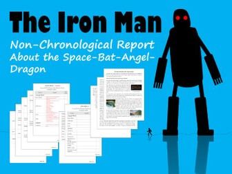 Example Non-Chronological Report About Space-Bat-Angel-Dragon from The Iron Man, Plus Feature Sheet
