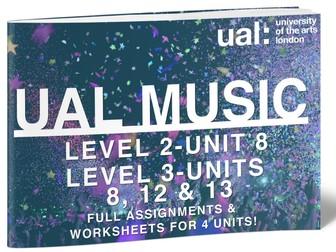 UAL Level 2 Unit 8, Level 3 Units 8, 12 and 13-BUNDLE