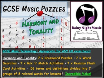 GCSE Music Language for Learning HARMONY TONALITY Bellringers Starters Revision Activities