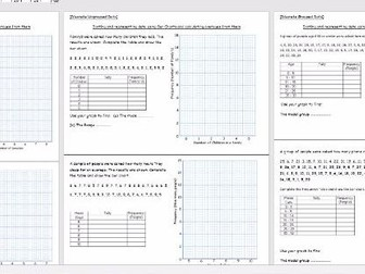Sorting data into frequency tables, drawing bar charts and finding averages