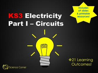 KS3 Physics - Electricity Resource Pack, Ciruits, Current, Voltage, Electric Components