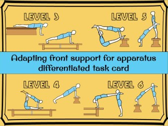 Gymnastics - Adapting  a balance for apparatus (front support)