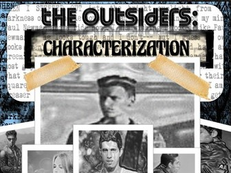 The Outsiders Activity: Characterization / Analysis & Student Self-Reflection