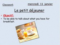 Breakfast foods in french