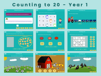 Counting to 20 - Year 1, Key stage 1, (US Kindergarten)