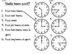 time in french by emmy91 teaching resources. Black Bedroom Furniture Sets. Home Design Ideas