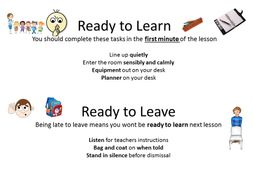 Start of lessons expectations