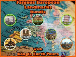 Famous European Landmarks with Google Earth Tours (Bundle)