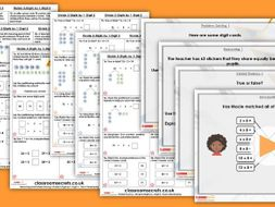 Year 3 Divide 2-Digits by 1-Digit 2 Spring Block 1 Step 6 Maths Lesson Pack