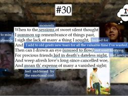 Line by Line: Shakespeare's Sonnet 30