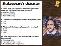 Shakespeare pub-style quiz - 40 questions and answers