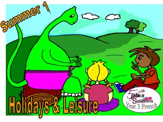 Primary French WHOLE LESSON: Leçon 1 To name some leisure activities (Year 3 Holidays & Leisure)