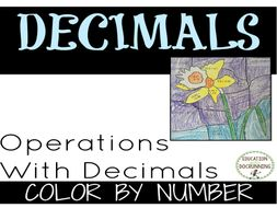 Operations with Decimals Color by Number Activity
