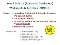 Introduction to Science – Worksheets & Activities [BUNDLE]