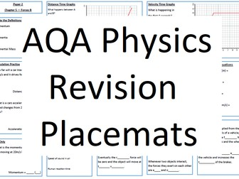 AQA Physics Revision Placemats