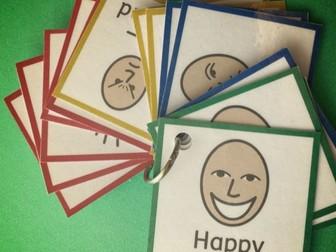 zones of regulation SEN ADHD ASD Autism PECS Keyring Emotion Feeling Cards