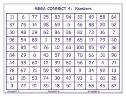 Numbers Mega Connect 4 game