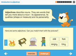 Adjectives Interactive Teaching Presentation - Year 2 Spag