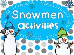 Snowmen Activities