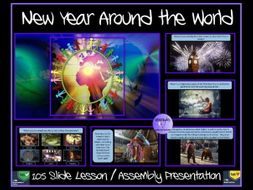 New Year: New Year Assembly - New Year Around The World Presentation - 105 Slides