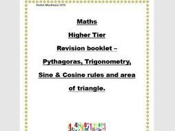 Revision booklet - Pythagoras, trig etc.