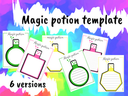 Magic potion template set