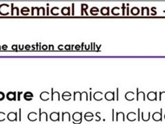 KS3 Chemical Reactions Six Mark Question