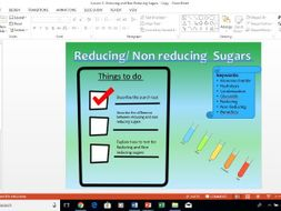AQA A-Level Biology Reducing and Non Reducing Sugars lesson