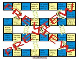 Past Simple Tense with Regular Verbs Chutes and Ladders Board Game
