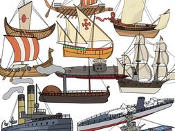 History of ship Clip art - Water Transport Clip Art ...