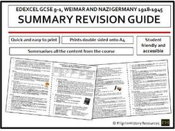 Weimar and Nazi Germany Revision Guide Summary