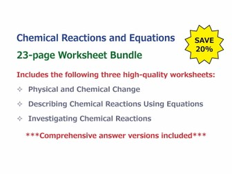 Physical and Chemical Change [Worksheet] by GoodScienceWorksheets ...
