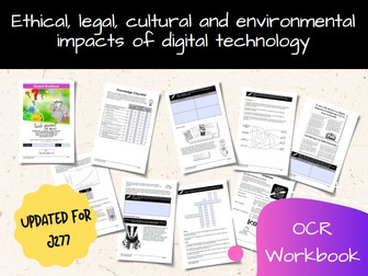 Ethical, Legal, Cultural And Environmental Impacts OCR GCSE Computer Science Workbook (J277)