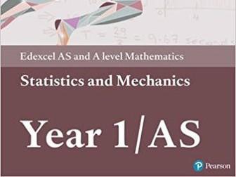 A-level Statistics and Mechanics Year 1/AS